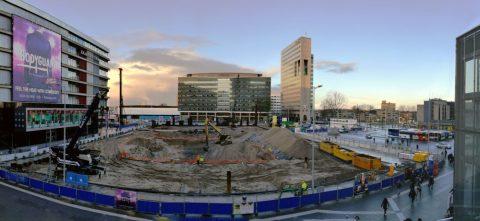 BK ingenieurs, stadshart Utrecht, jaarbeursplein, parkeergarage, bodemonderzoek, sanering, BUS-sanering, ontgraven, bouwput, Jelle de Gier