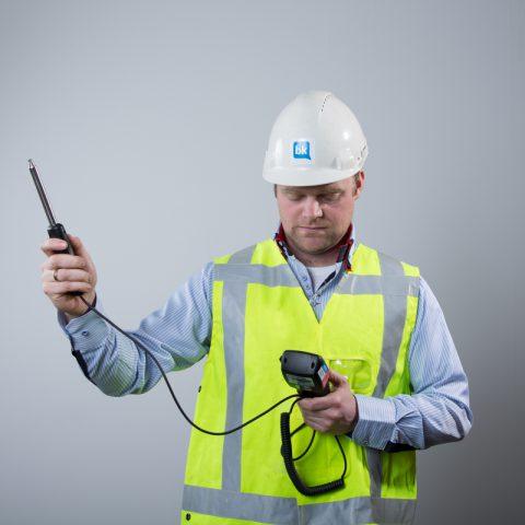 BK ingenieurs vochtmeter Bouwkunde Ronald van den Bout stagebegeleider Chevali Lalta